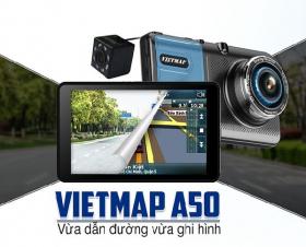 Camera Hành Trình VietMap A50 - Dẫn Đường – Ghi Hình Trước Sau Full HD
