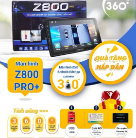 Màn Hình Liền Camera 360 Zestech Z800 Pro+