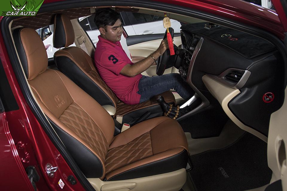 Kiểu may caro ghế da ô tô